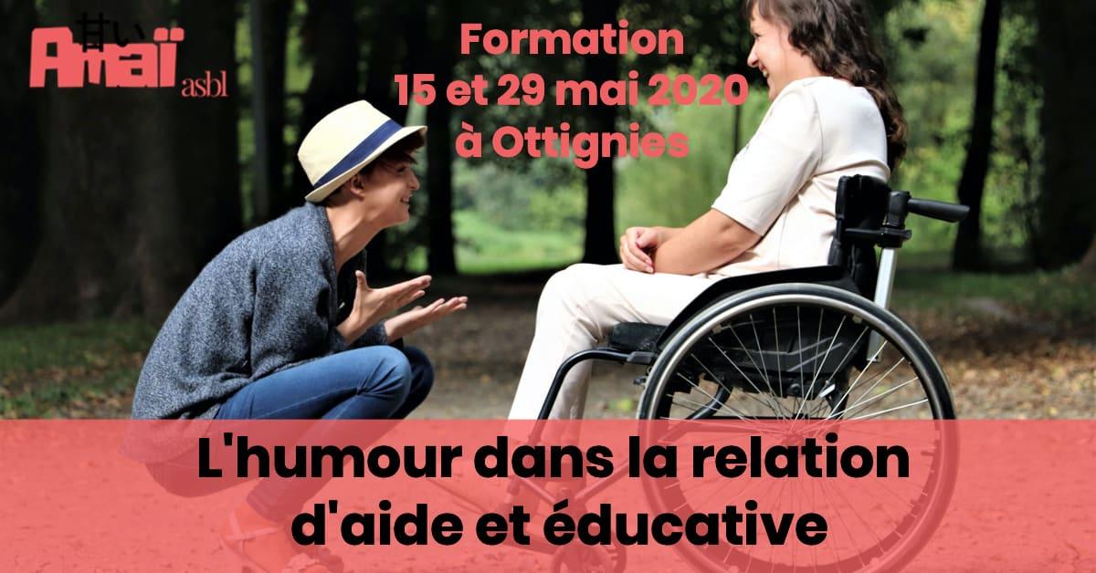 Image Formation Humour dans la relation d'aide et éducative