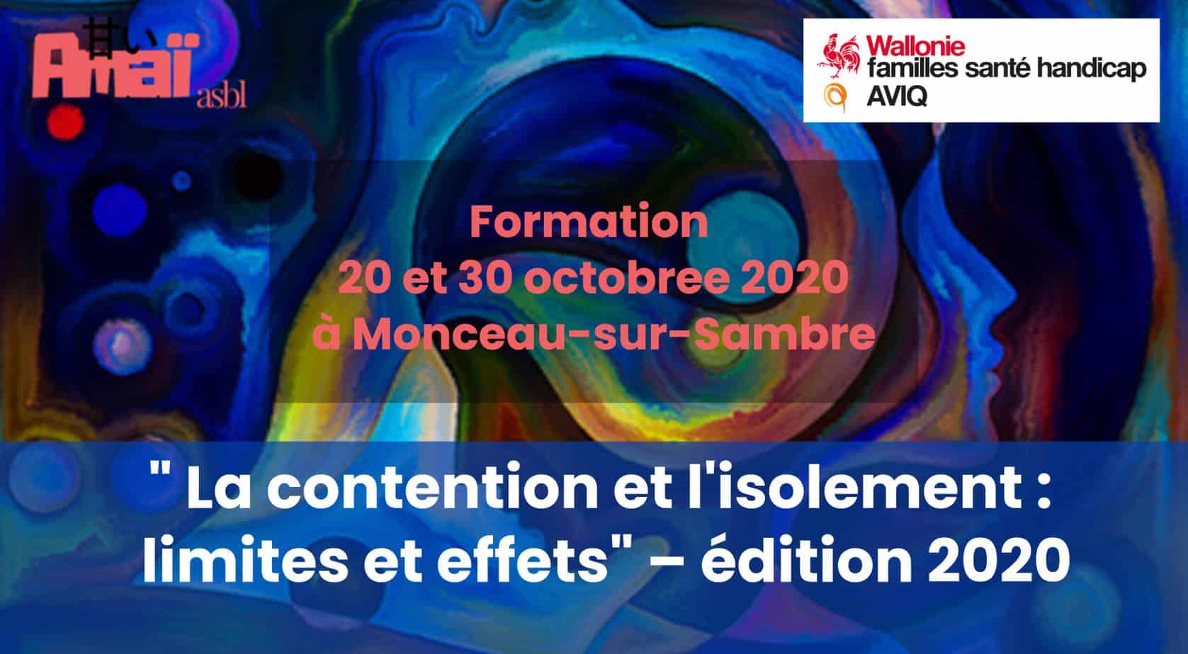Formation AVIQ «Contention et isolement : limites et contraintes» – version 2020